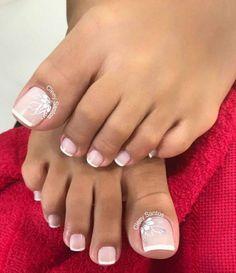 Pretty Toe Nails, Cute Toe Nails, Gel Nails, Acrylic Nails, Toe Nail Color, Toe Nail Art, Nail Colors, Wedding Toe Nails, Wedding Toes