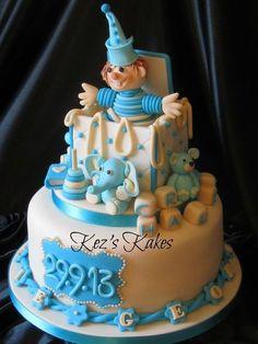 Jack in the Box Christening Cake