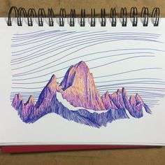 Fitz roy artistry art sketchbook, art sketches и drawings Mountain Drawing, Mountain Art, Mountain Sketch, Sketchbook Inspiration, Art Sketchbook, Art Sketches, Art Drawings, Pen Sketch, Sketch Drawing