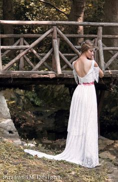 Boho Wedding Dress Bohemian Bridal Gown Long Wedding Dress Gypsy Bridal Gown - Handmade by SuzannaM Designs by SuzannaMDesigns on Etsy https://www.etsy.com/listing/108995616/boho-wedding-dress-bohemian-bridal-gown