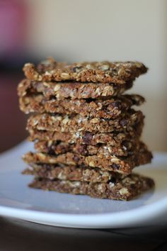 Homemade granola bars-113 calories each w/ the coconut 101 w/out!