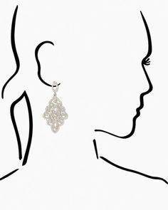 Pavé Chandelier Dangle Earrings