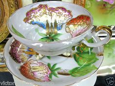 Trimont Occupied Japan 3 Toed Tea Cup and Saucer Duo
