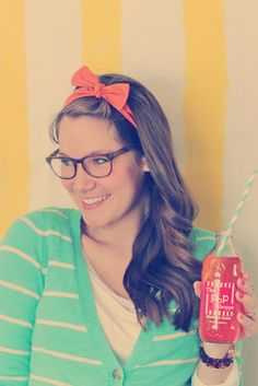 """The Colette Headband in """"orange soda"""" - perfect for spring & summer!"""