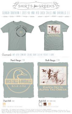 KD   ATO   Kappa Delta   Duck Calls & Overalls   Mixers   Cute Designs   Tshirt Ideas   shirtsforgreeks.com