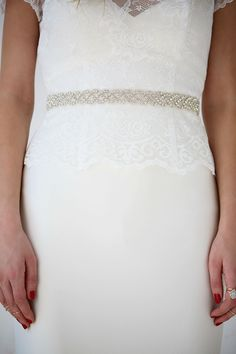 AW-1252 | Diamante Slim Belt | Wedding Gown Belt | Charlotte Balbier