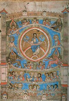 Nebeský Jeruzalém, Augustinus, De civitate Dei, kolem 1200, Praha, Kapitulní knihovna A 7
