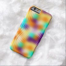 Chic Retro Bright Colors Abstract Swirls Pattern iPhone 6 Case