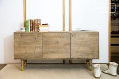 Wooden sideboard Messinki and others chests & sideboards to discover at PIB, the specialist in vintage furniture, lighting and decorating style. Sideboard Decor, Sideboard Cabinet, Credenza, Luxury Furniture, Vintage Furniture, Furniture Design, Decoration Buffet, Style Vintage, Modern Room