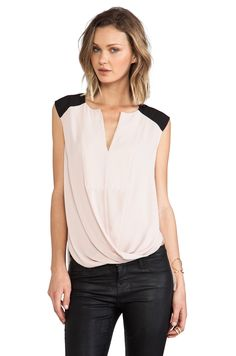 BCBGMAXAZRIA Giselle Color Block Tank in Bare Pink from REVOLVEclothing