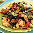 Healthy Main Course Salads: Grilled Gazpacho Salad w Shrimp