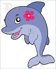 cute girl dolphin Cartoon | Cute Dolphins Cartoon