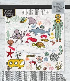 Shark Illustration, Princess Illustration, Under The Sea Drawings, Sea Colour, Color, Drawn Fish, Fish Ocean, Flower Outline, Web Themes