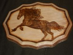 Wood burned art by Colleen Jess  Horse  http://www.facebook.com/pages/Great-Jesspectations/87931702513