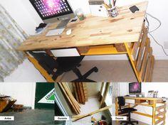 Mesa para computador feita com pallets | Fale ao motorista somente o indispensável