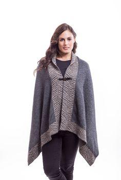 New Zealand Possum Fur Merino Wool Knitwear Safari Wrap