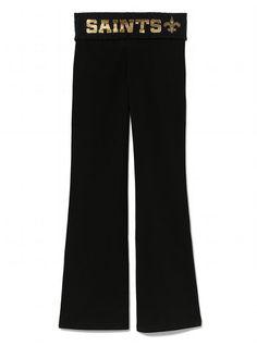 victoria's secret new orleans saints  | New Orleans Saints Yoga Pant - Victoria's Secret PINK® - Victoria's ...