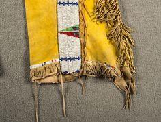 "Southern Cheyenne or Arapahoe Tab Style Beaded Leggings, 36"" long - March in Montana"
