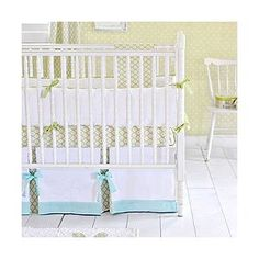 Baby Dayz in Green 3 Piece Crib Bedding Set by New Arrivals Inc.