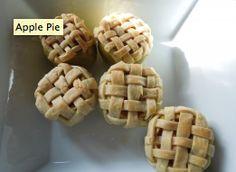 Pie de manzana en manzana