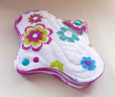 Tweens Teens cloth pads Floral Minky Cotton by MariposasClothPads, $22.00