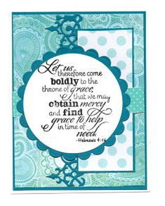 Handmade card by Dorothy using the New Mercies stamp set from Verve. #vervestamps