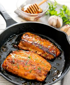 Salmon recipes 672866000559185657 - Honey Garlic salmon is a quick and delicious meal ready in about 30 minutes. Salmon fillets are pan seared and then glazed with a honey garlic sauce. Salmon Recipe Pan, Salmon Marinade, Baked Salmon Recipes, Seafood Recipes, Dinner Recipes, Coho Salmon Recipe, Honey Salmon, Garlic Salmon, Salads
