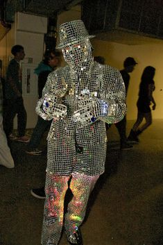 Went to a party, saw this human disco ball...