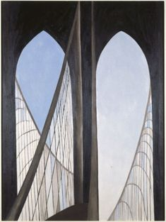 Georgia O'Keeffe, Brooklyn Bridge http://www.brooklynmuseum.org/opencollection/research/brooklyn_bridge/paintings/full.php?imgNo=77.11