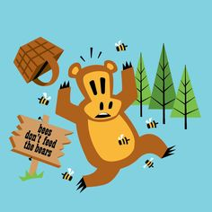 A picnic, Worry Bear-style #paulfrank #worrybear