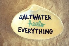 Cranberry Collective Salt Water Heals Everything Clam Shell Dish Cape Cod