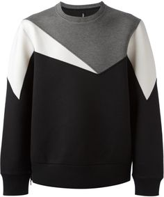 b1854c689b53 Neil Barrett - Black Printed Sweatshirt for Men - Lyst