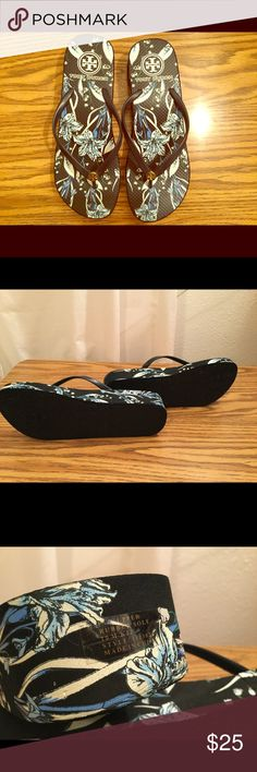 Tory Burch Wedge Flip Flops Very cute and most important comfy. Tory Burch Shoes Sandals