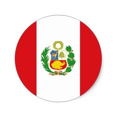 Shop Peru State Flag Sticker created by the_little_gift_shop. Peru Flag, Canada Logo, National Flag, Round Stickers, Little Gifts, Flags, Custom Stickers, Create Yourself, Banner