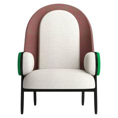 'MOON-B', a Contemporary Armchair with a Vintage Twist in Limited Edition 1 Einrichtungsstil Charles Kalpakian Armchair - 'Moon-B Vintage Twist French Contemporary Fabric, Foam, Beech Classic Furniture, Unique Furniture, Sofa Furniture, Rustic Furniture, Luxury Furniture, Furniture Stores, Outdoor Furniture, Furniture Ideas, Cheap Furniture