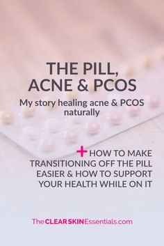Not sure if you should go on The Pill to treat acne or PCOS? Here's my story how I found out I had PCOS when I got off The Pill, and how instead of going back on it, I wanted to try to healed myself naturally. By making massive improvements to my diet & lifestyle, I was able to balance my hormones, clear up the acne, and get rid of all the symptoms of Polycystic Ovarian Syndrome (including getting rid of the cysts covering both my ovaries and regaining my fertility naturally). It is poss