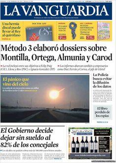 Los Titulares y Portadas de Noticias Destacadas Españolas del 16 de Febrero de 2013 del Diario La Vanguardia ¿Que le parecio esta Portada de este Diario Español?