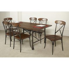 Found it at Wayfair - Industriale Age 7 Piece Dining Set