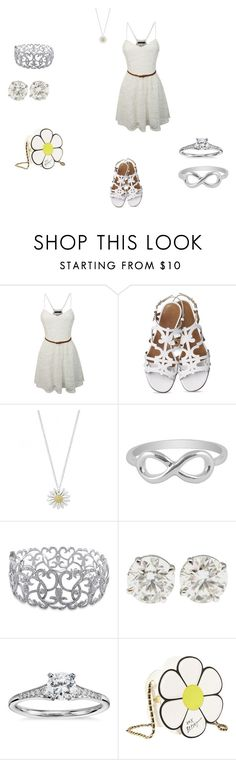 """party time"" by breanna-cccxi ❤ liked on Polyvore featuring LE3NO, Daisy Jewellery, Jewel Exclusive, Ice, Blue Nile and Betsey Johnson"