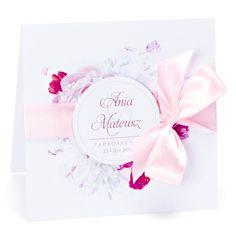 Zaproszenia ślubne zkwiatemPiwonii
