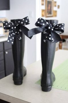 bottes noeuds ruban Customisez vos bottes avec du ruban