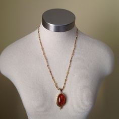 ⬇️Ember like pendant necklace! Perfect with those tunics or sweaters! Love the chain. Slight scratches and wear so price reflected due to this. Jewelry Necklaces