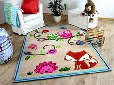 Lifestyle Kinderteppich Waldleben Beige Teppiche Kinder- und Spielteppiche Lifestyle Kinderteppiche