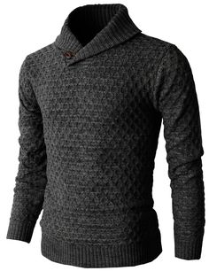 Mens Causal Knit Pullover Sweater With Hexagon Pattered Long Sleeve (KMOSWL026) #doublju