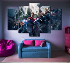 Avengers Multi Panel Canvas Print Price: $59.99 FREE SHIPPING