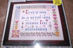 """Design Works GREAT STITCHING DAY  11"""" x 13"""" Counted Cross Stitch Kit"""