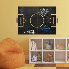 Vinilos Decorativos  Pizarra Futbol  pizarra  vinilo  decoracion  pared   infantil   f89f4c20a62b4
