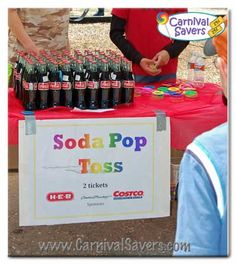 Fall Festival Booth Ideas | Carnival Game and Booth Ideas - Cola Ring Toss