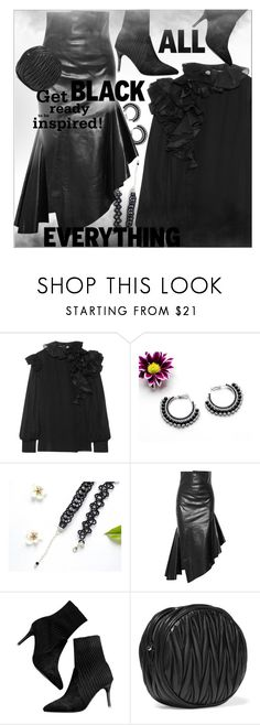 """""""All Black"""" by strugaart ❤ liked on Polyvore featuring Lanvin, Monse, Miu Miu, allblack and polyvorecommunity"""