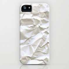 White Crumpled Paper iPhone Case